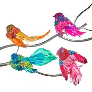 Vogeltjes Clip Kerst