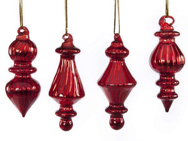 Kerstballen Pegels Rood