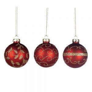 Rode Kerstballen Goud