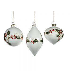 Kerstballen kersttak glitter