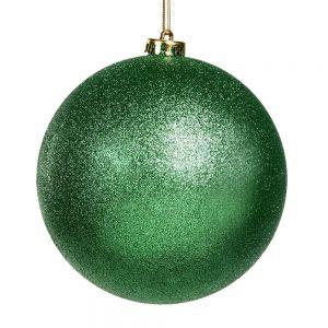 Kerstbal glitter groen