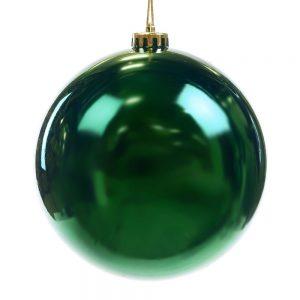 Kerstbal Groen Shiny