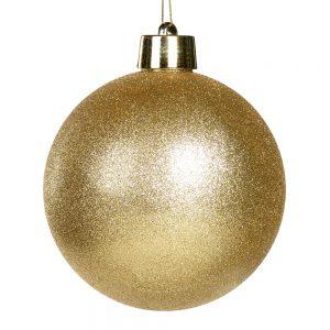 Kerstbal goud glitter