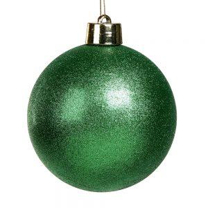 Kerstbal Groen Glitter