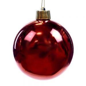 Kerstbal Rood Shiny