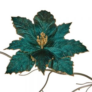 Bloem Blauw Groen Glitter